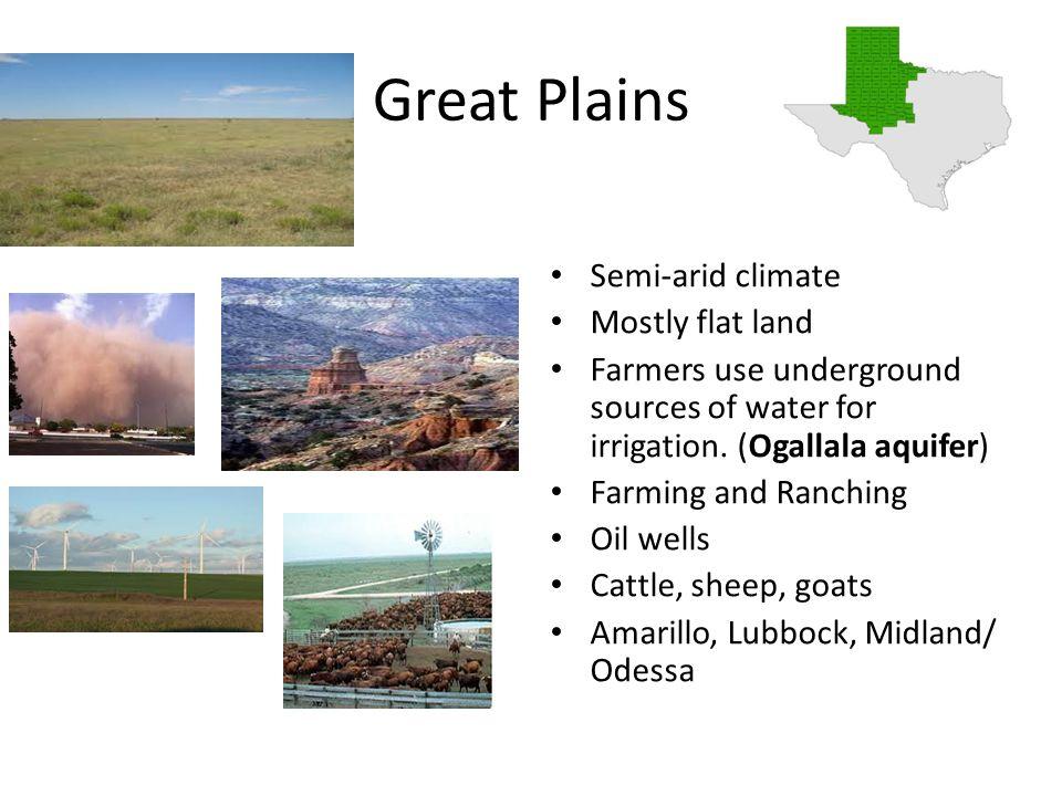 characteristics of plains
