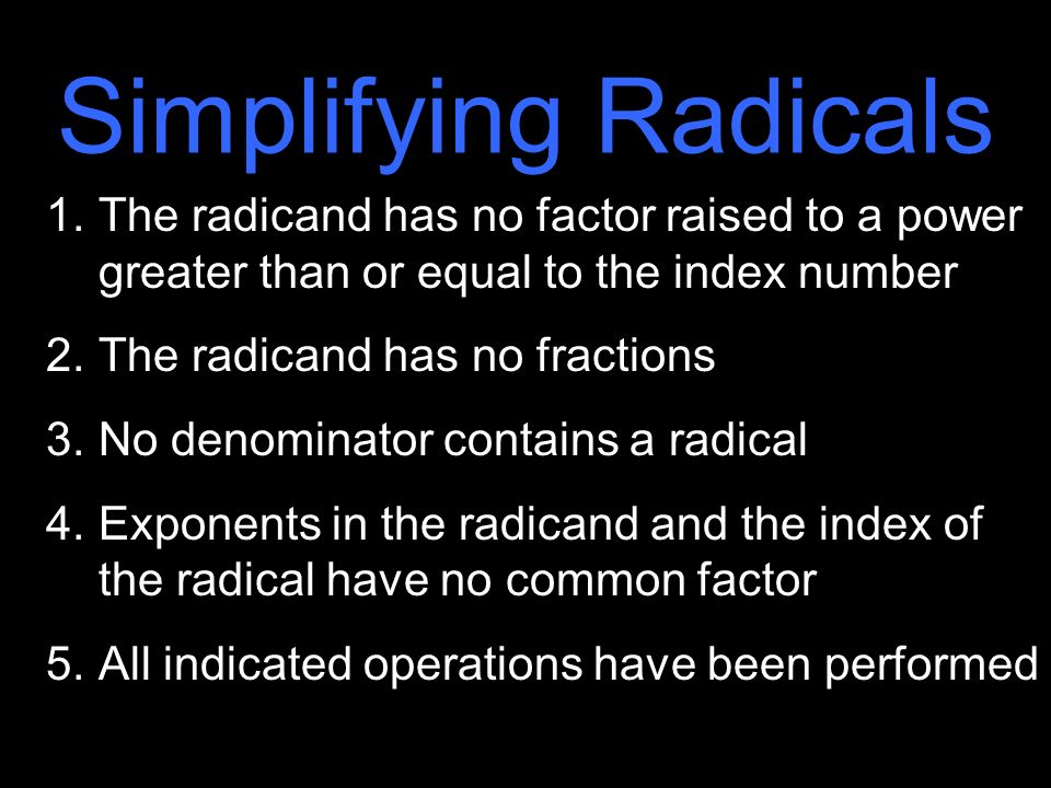 Radicals Simplify Radical Expressions Using The Properties Of. Worksheet. Simplifying Radicals Of Index 2 Worksheet At Clickcart.co
