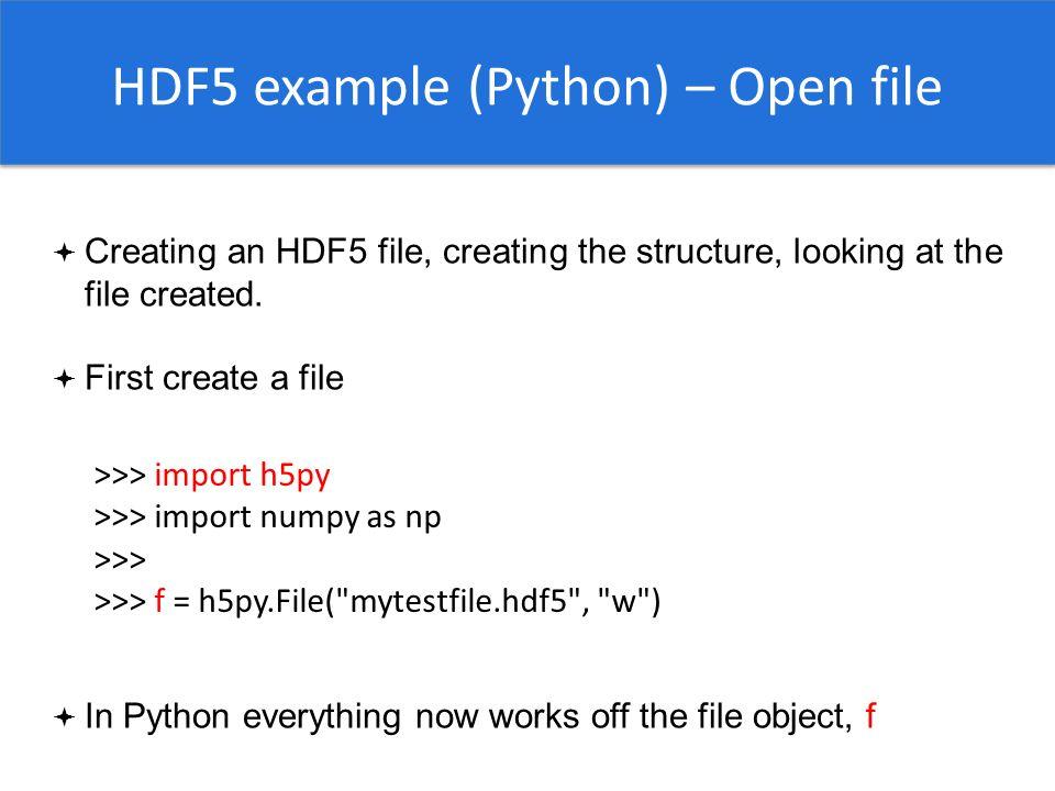 HDF5  - ppt video online download