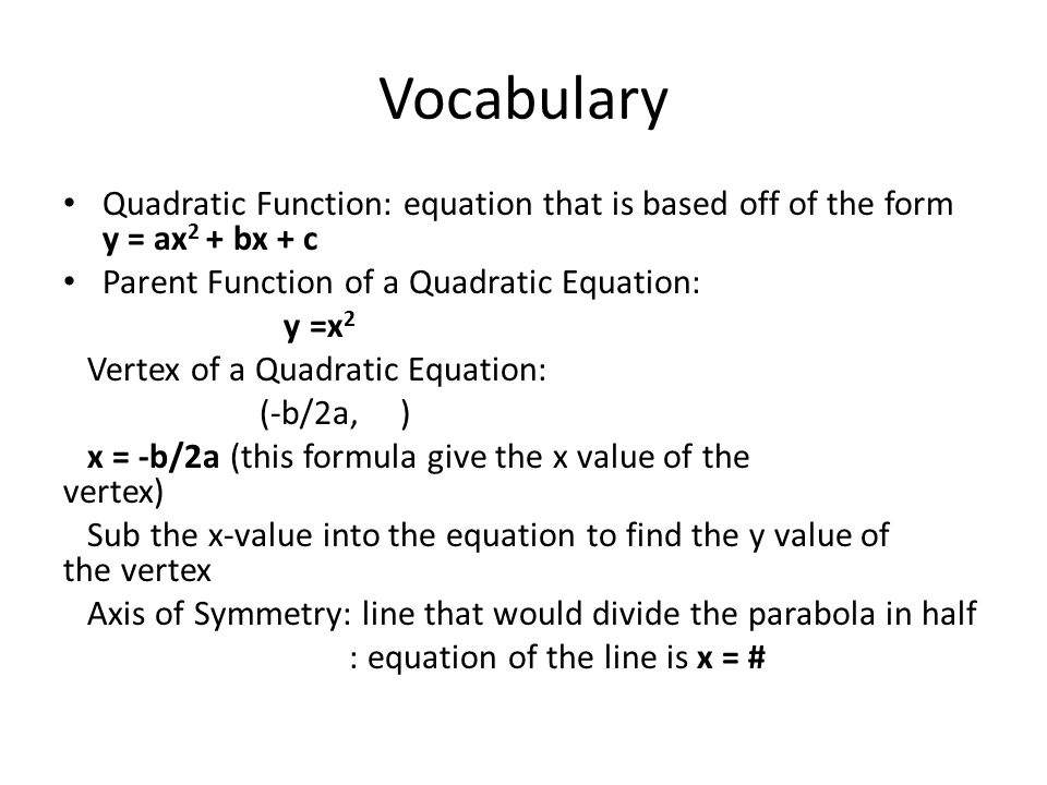 41 Graph Quadratic Functions In Standard Form Ppt Download