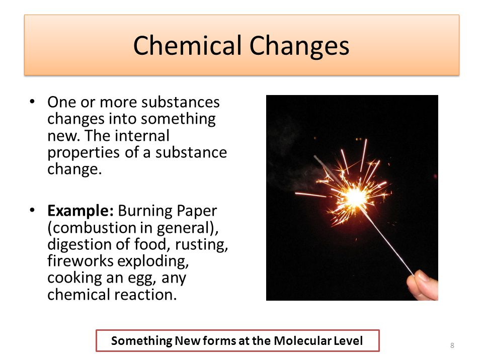 Example Of Chemical Change Image Collections Example Cover Letter