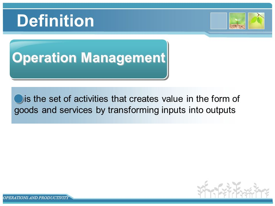 Operation Management Operations And Productivity Ppt Video Online