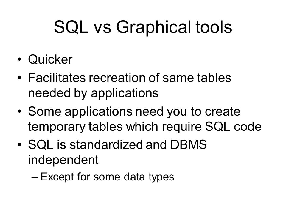 SQL for Database Construction and Application Processing - ppt video