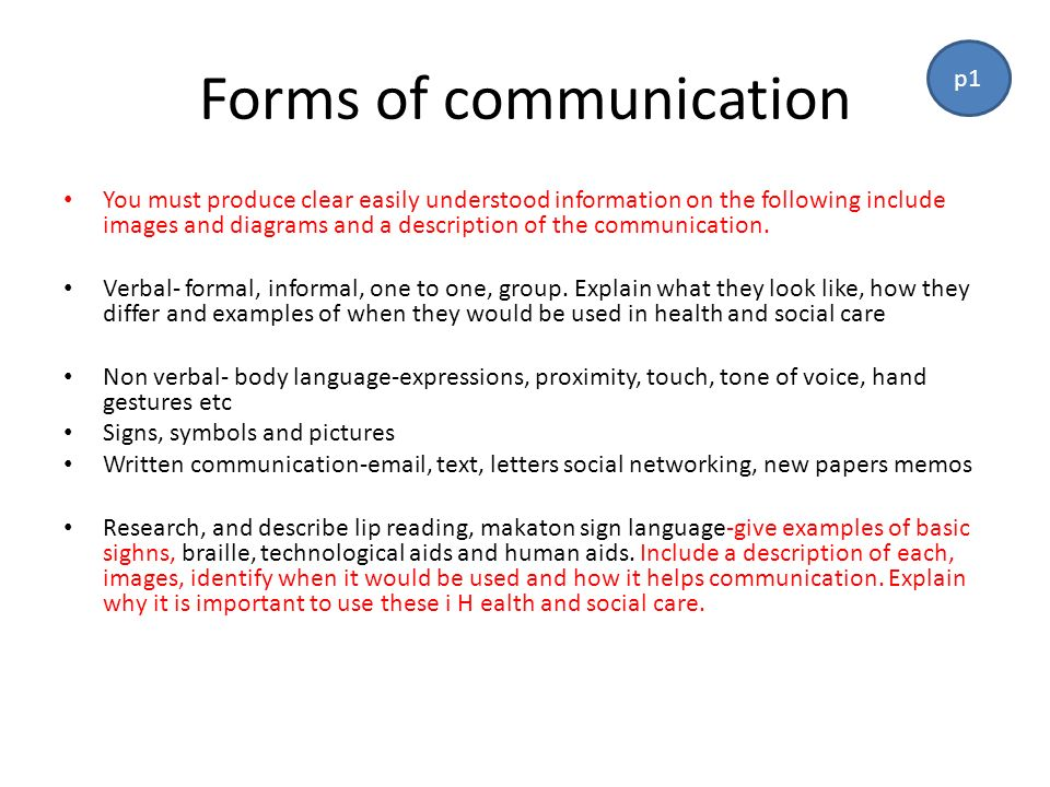 6 forms of communication health and social care essay Communication can also be used in the context of health and social care to be able to promote an advocacy this kind of communication is often these laws serve as the foundation of the behaviour of the healthcare professional and form the basis of how they act and how they communicate.
