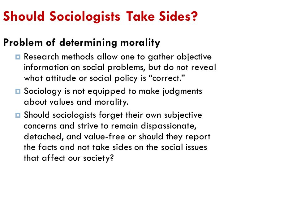 what does value free mean in sociology
