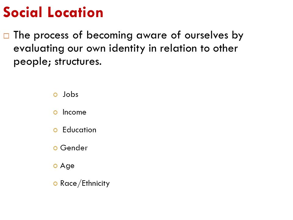 what is social location