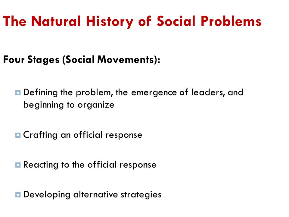 The Natural History Of Social Problems