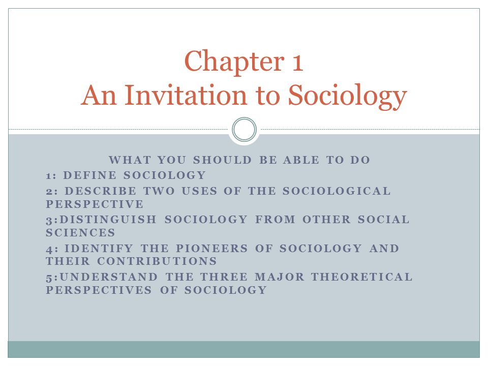 three major perspectives in sociology The symbolic interaction perspective, also called symbolic interactionism, is a major framework of sociology theory this perspective focuses on the symbolic meaning that people develop and rely upon in the process of social interaction.