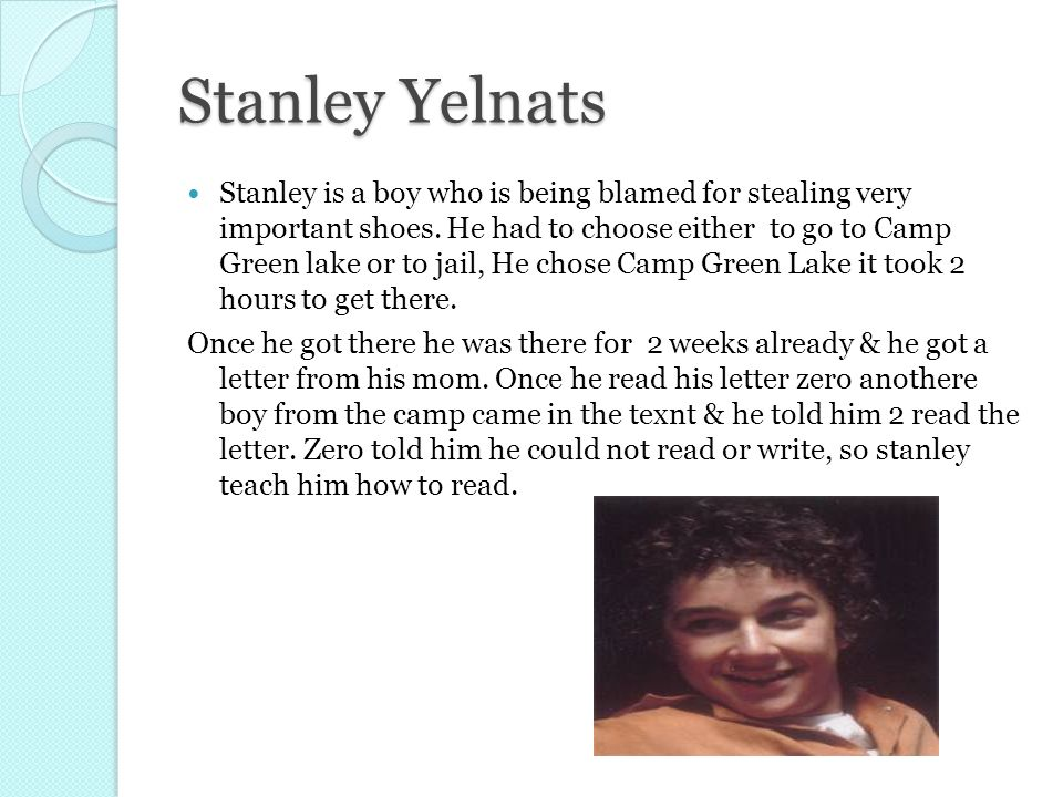how long was stanley at camp green lake