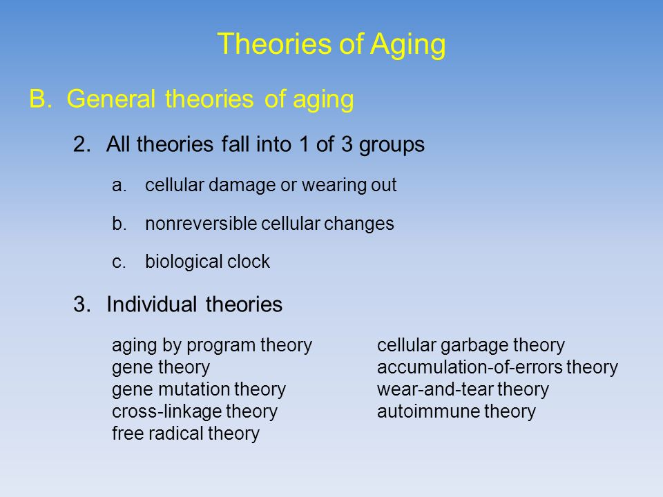 wear and tear theory of aging