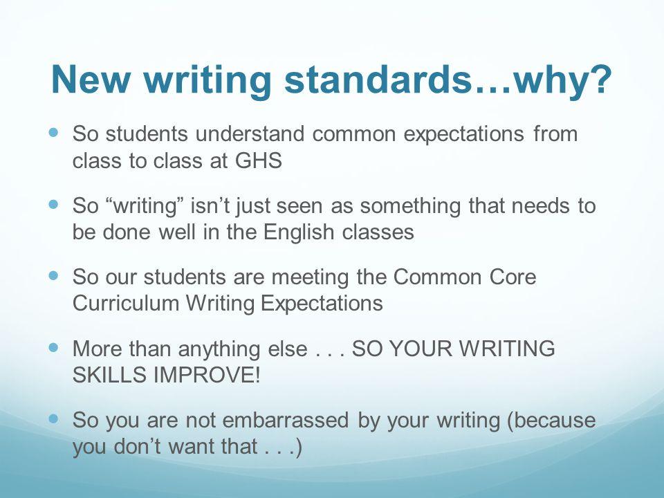 Ghs Writing Standards 10th Grade Seminars Sept 16 Ppt Video Online