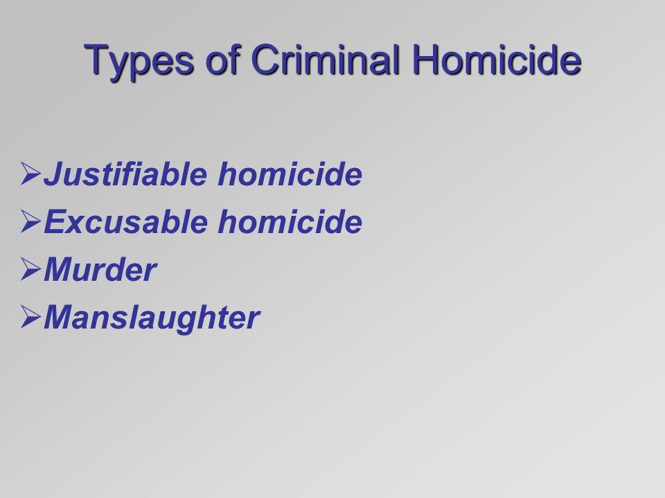types of murders
