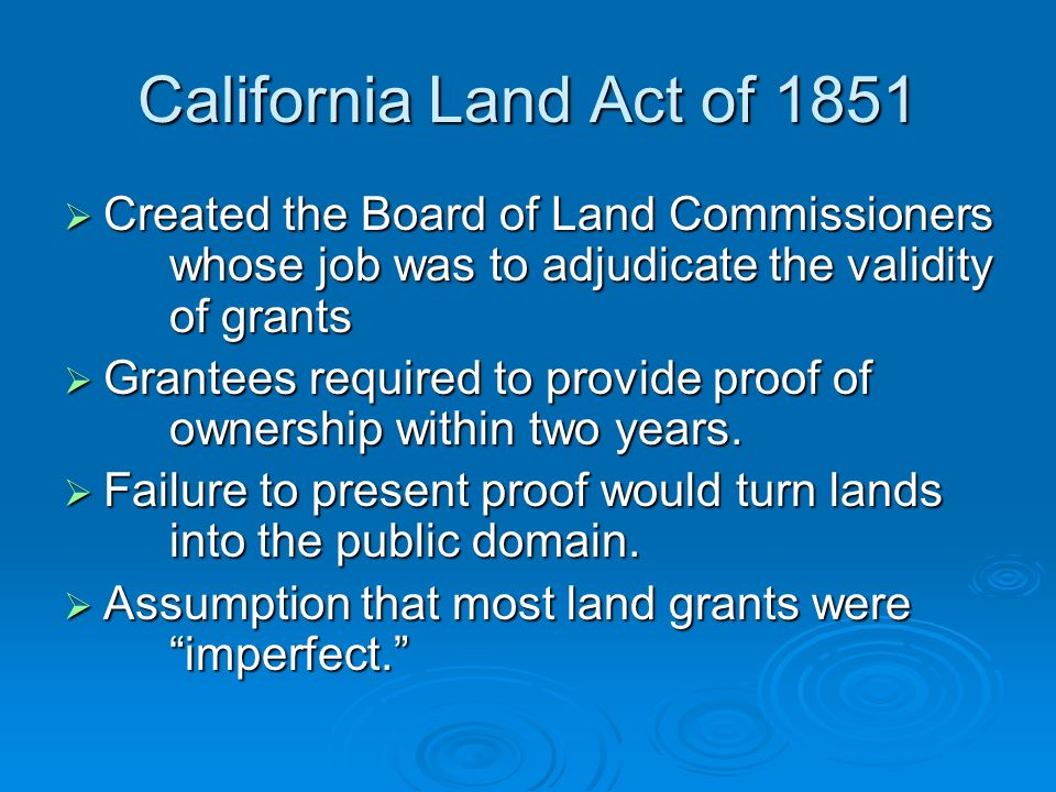Article 10 Protocol of Queretaro California Land Act of ppt