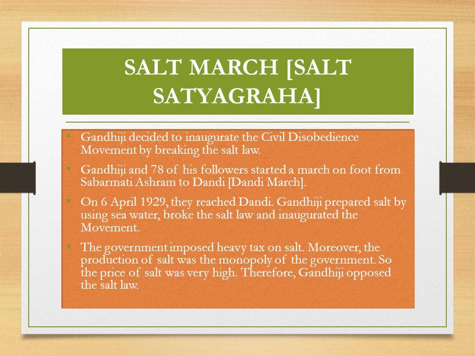 gandhiji salt satyagraha