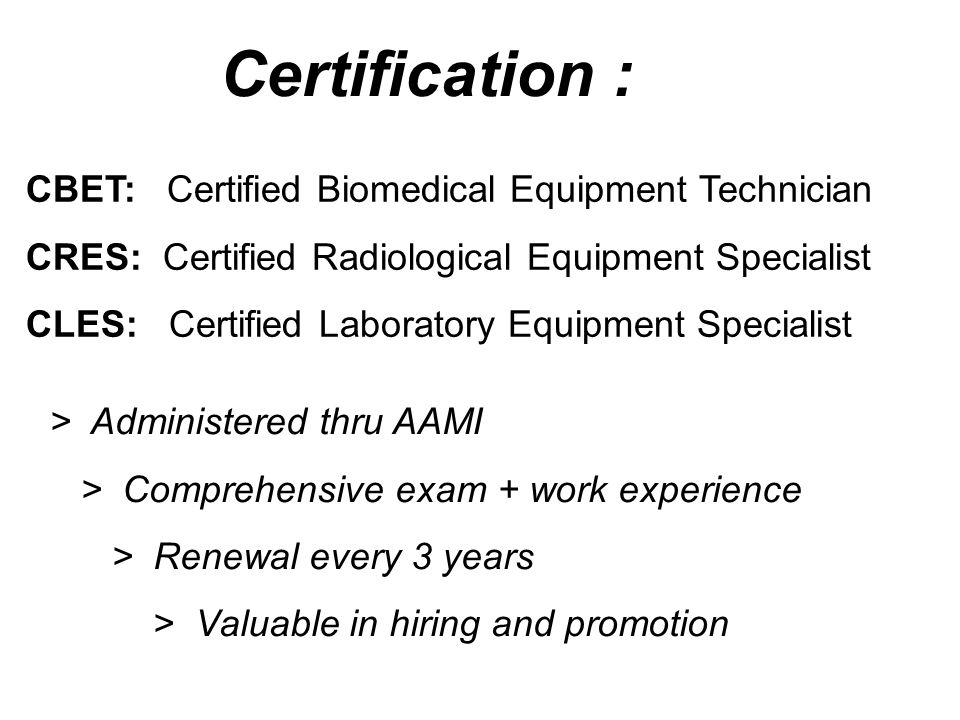 Healthcare Technology Management Biomedical An overview of Equipment ...