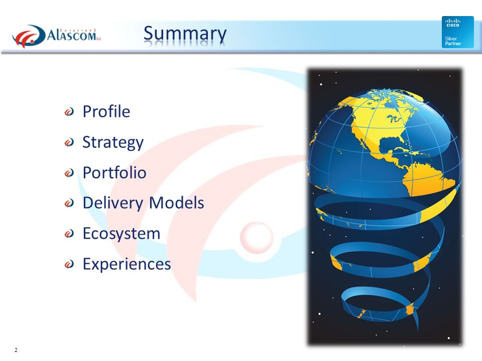 Summary Profile Strategy Portfolio Delivery Models Ecosystem