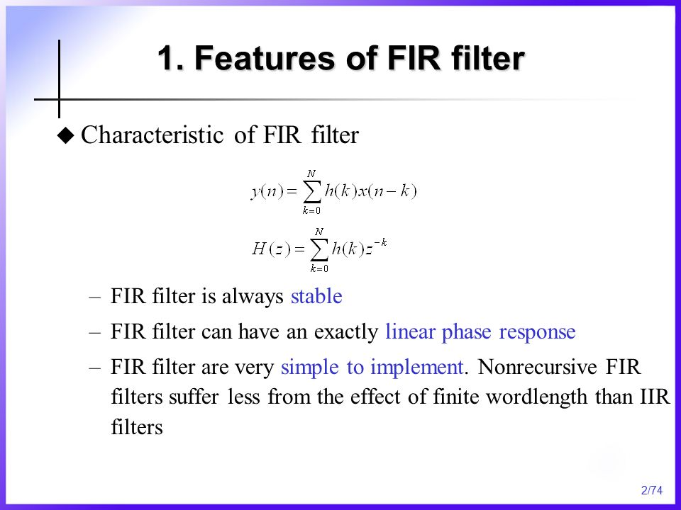 Chapter 7 Finite Impulse Response(FIR) Filter Design - ppt video