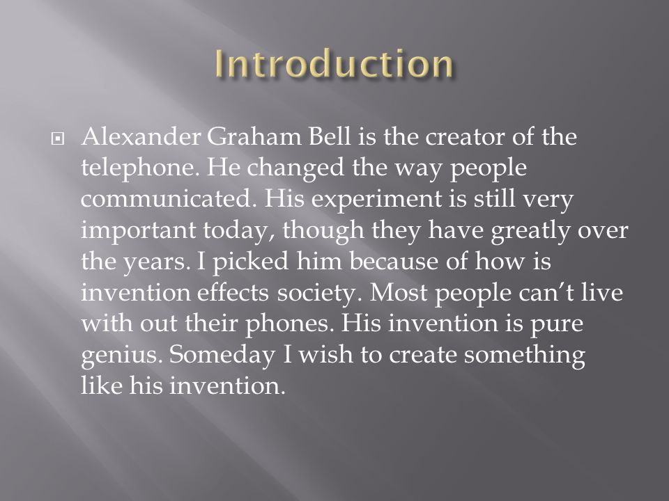 alexander graham bell impact on society