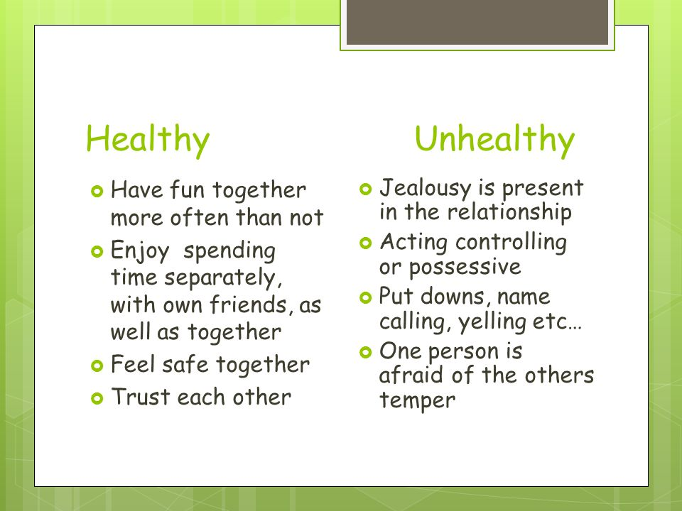 characteristics of an unhealthy relationship