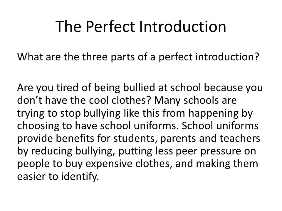 a great introduction paragraph