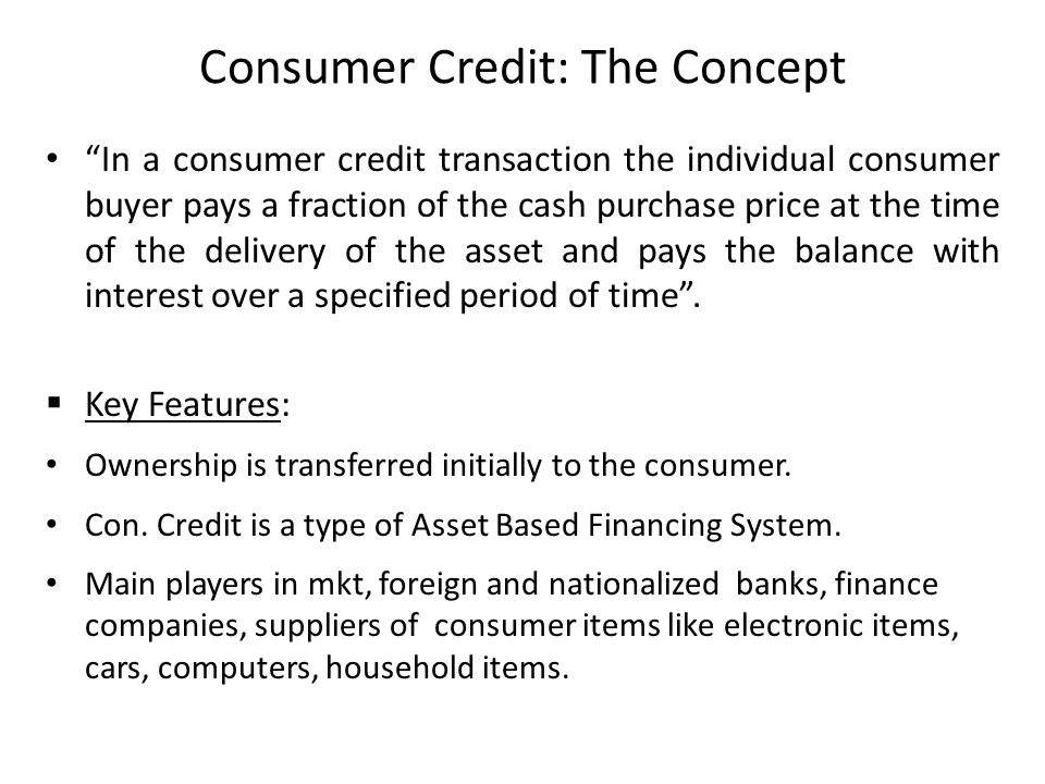 Hire Purchase Finance And Consumer Credit Ppt Video Online Download