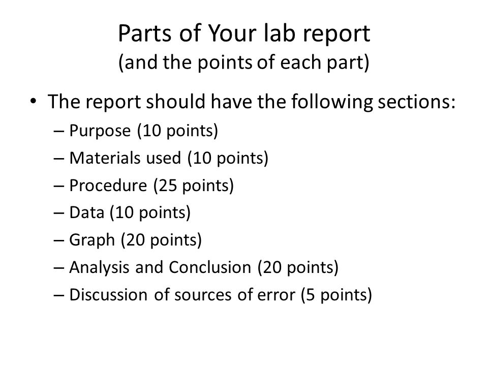 how to write a professional lab report