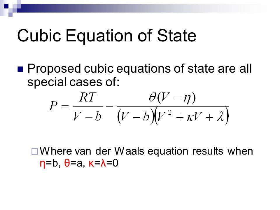 Cubic Equation Of State Van Der Waals Ppt Video Online Download