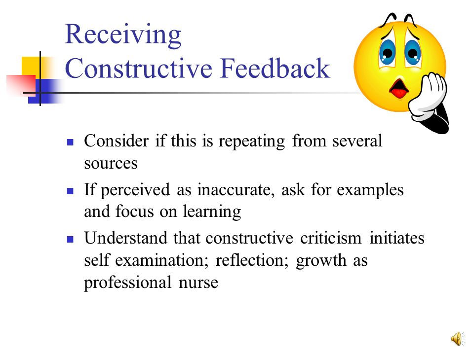 Giving And Receiving Constructive Feedback Ppt Video Online Download