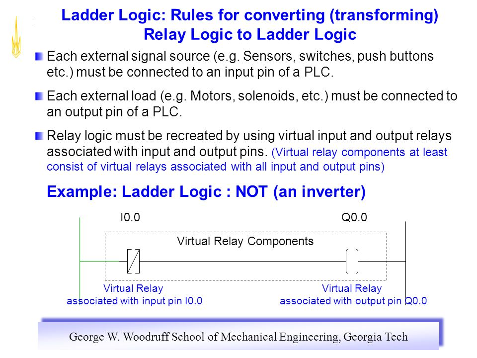 Section 1 relay control panels ppt download example ladder logic not an inverter ccuart Images