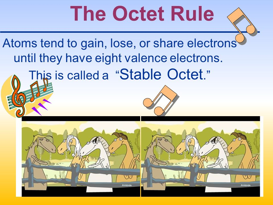 The Octet Rule Atoms tend to gain, lose, or share electrons