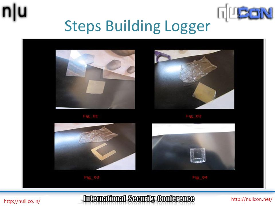 Steps Building Logger http://nullcon.net/ http://null.co.in/