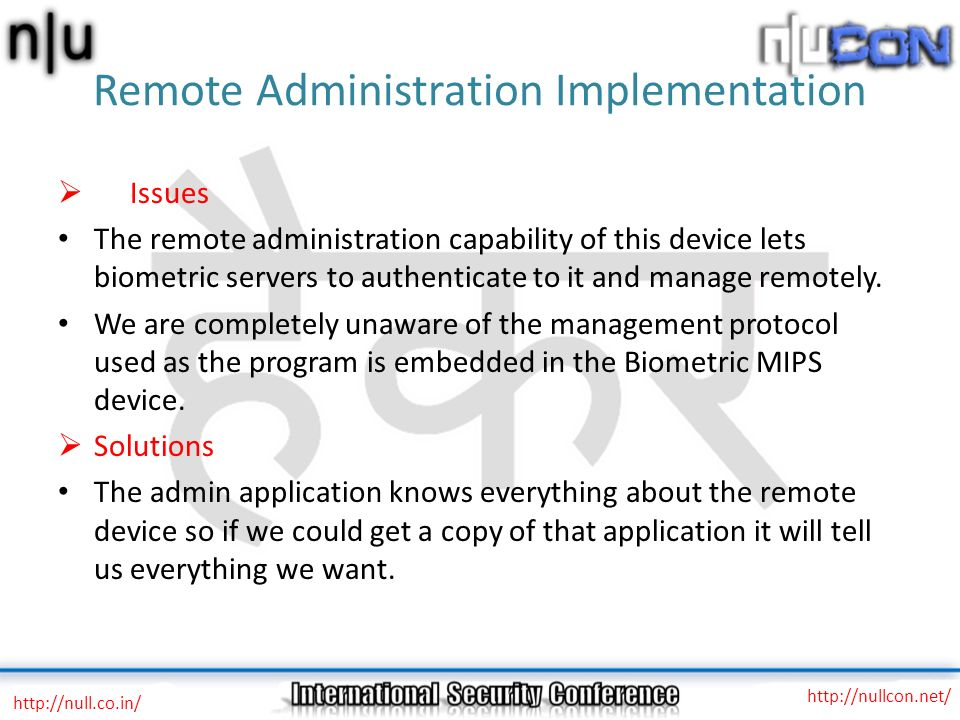 Remote Administration Implementation
