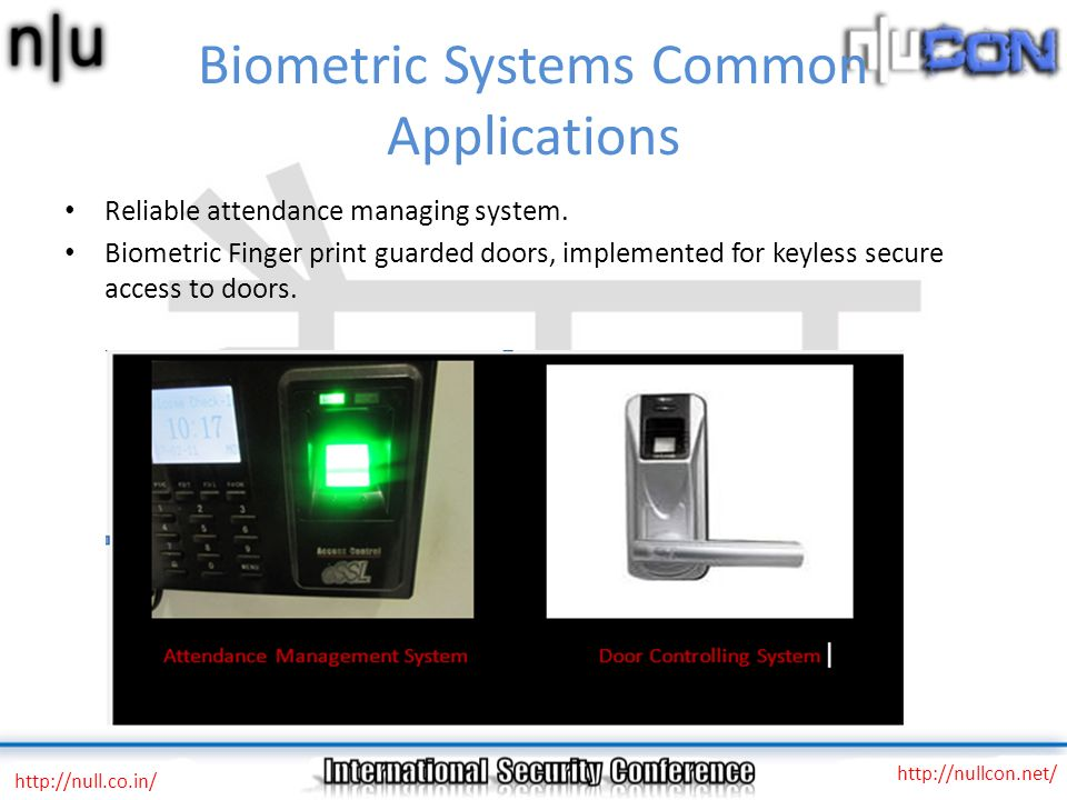 Biometric Systems Common Applications
