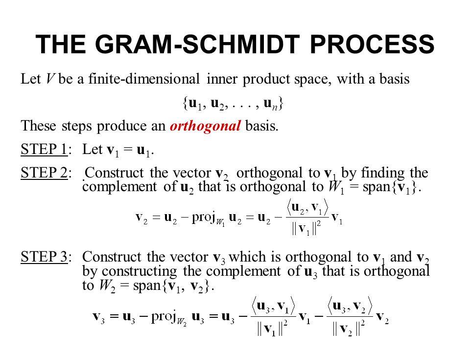 orthonormal bases gram schmidt process qr decomposition. Black Bedroom Furniture Sets. Home Design Ideas