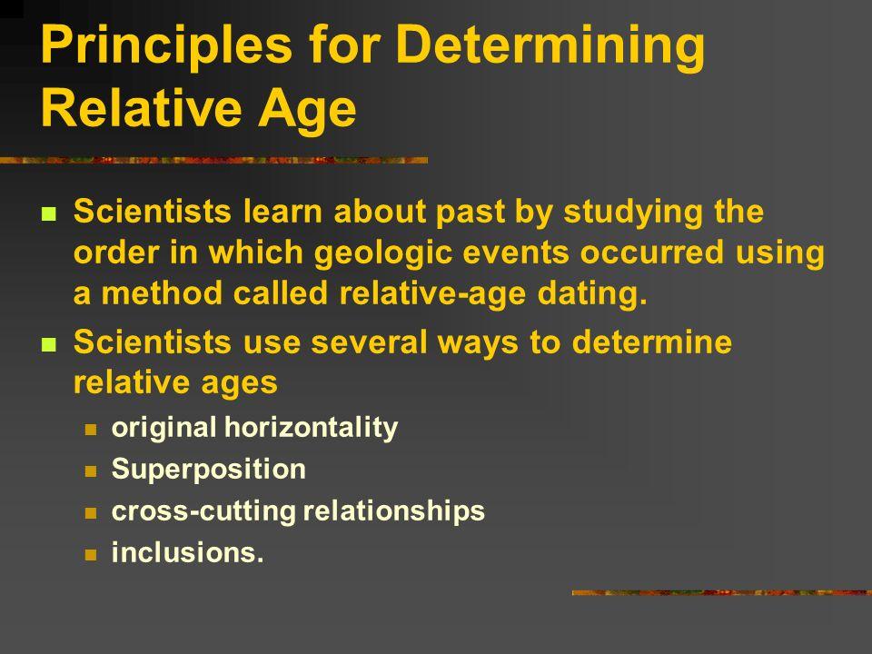 RELATIVE DATING,SUPERPOSITION, UNCONFORMITY, ORIGINAL HORIZONTALITY.