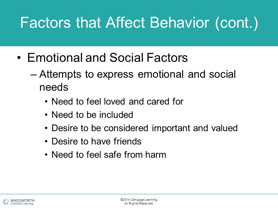How Emotions Affect Learning Behaviors >> Chapter 7 Guiding Children S Behavior Ppt Video Online Download