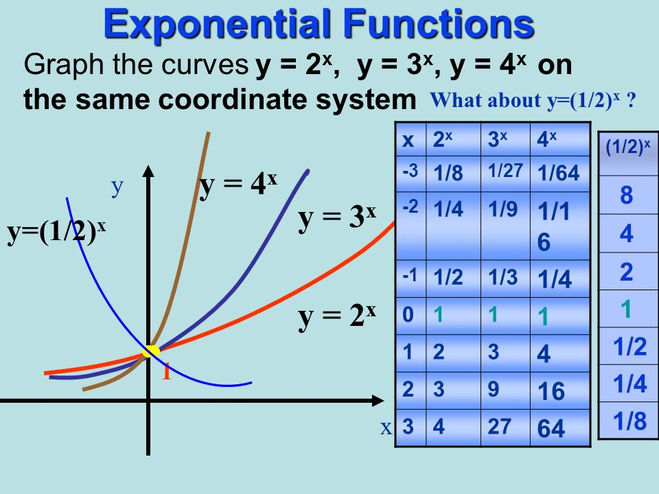 Aim What Is The Exponential Function Ppt Video Online Download. 3 Exponential Functions. Worksheet. Worksheet 3 Graphing Exponential Functions At Clickcart.co