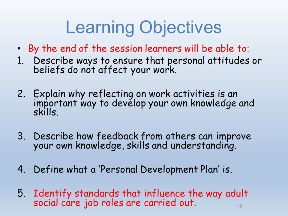 identify standards that influence