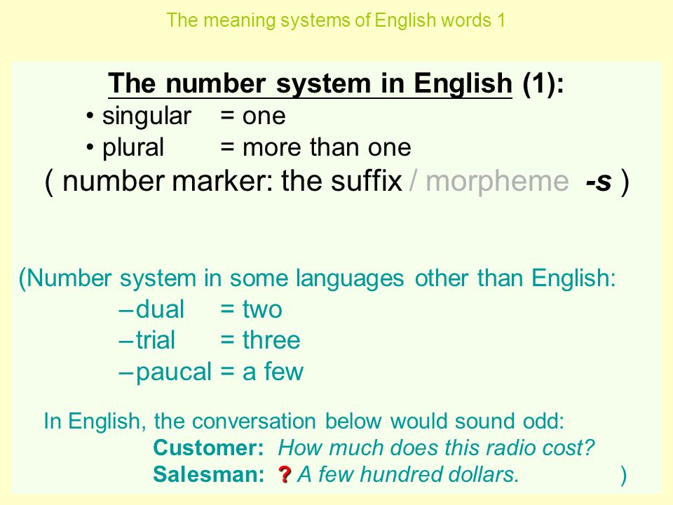 The meaning systems of English words x 4 lectures - ppt