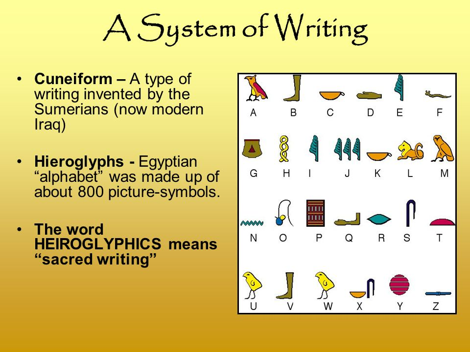 the development of ancient systems of writing in iraq and egypt The ancient irrigation system has been brought up to a pitch never before seen new land has been brought under cultivation cities have flourished, and the population has expanded iraq is the bread-basket of the persian empire.