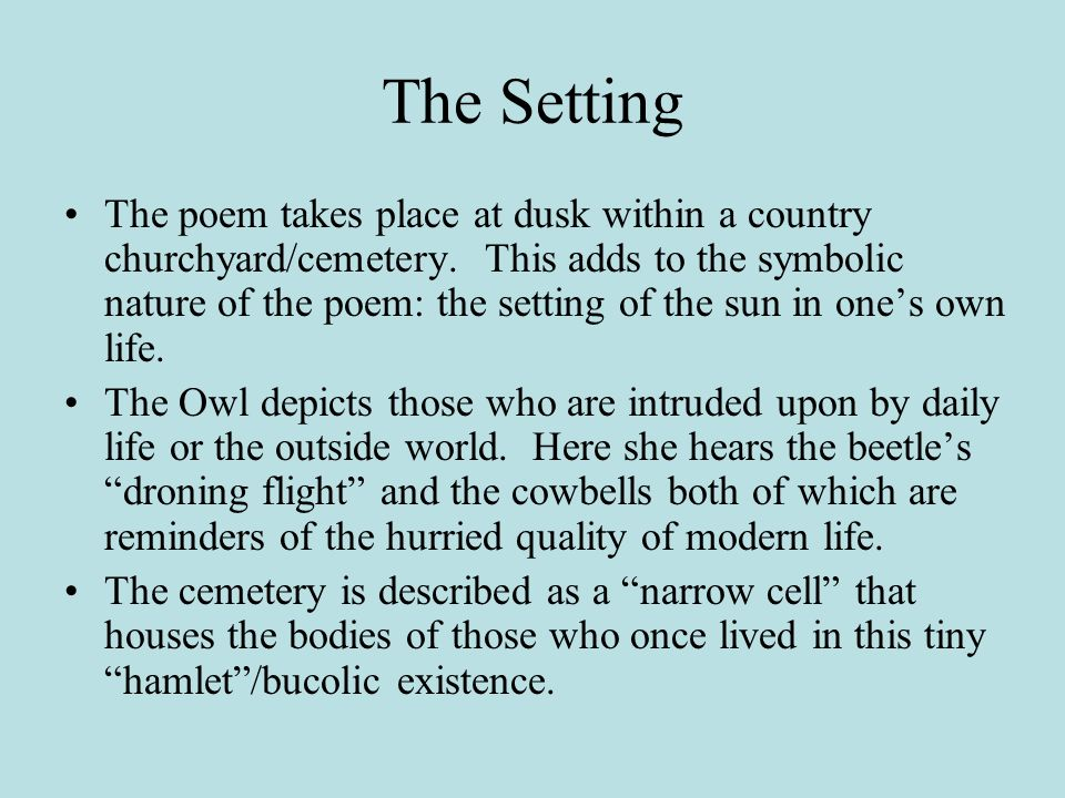 short summary of elegy written in a country churchyard