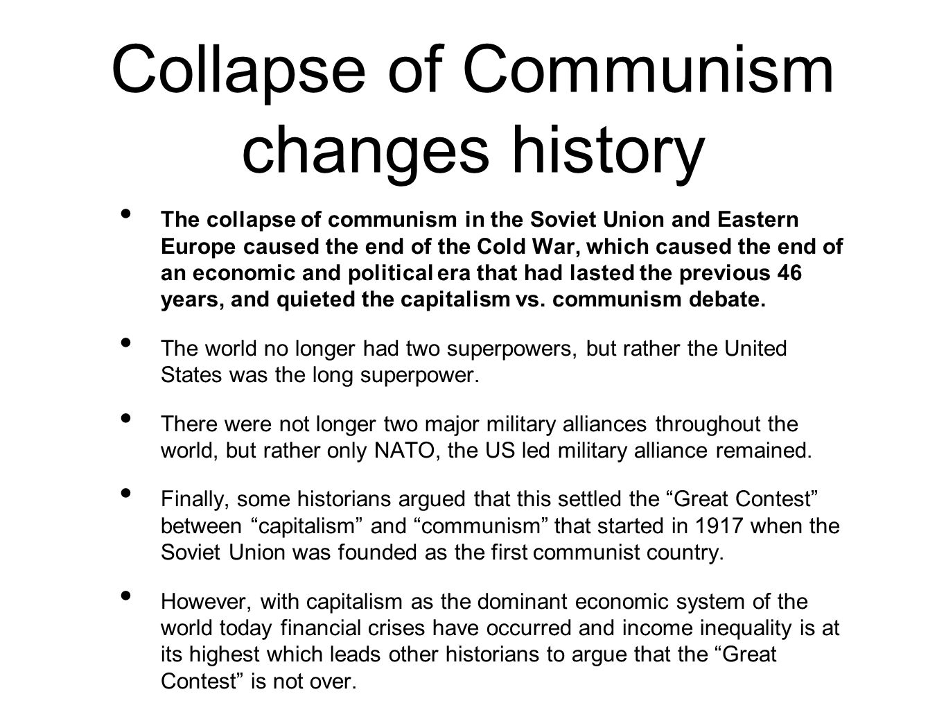 What are the causes of the collapse of the USSR 40