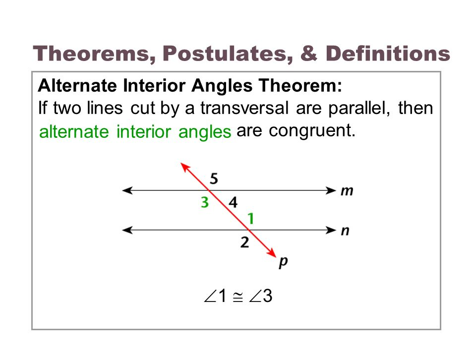 3 3 parallel lines transversals ppt video online download - Definition of alternate exterior angles ...