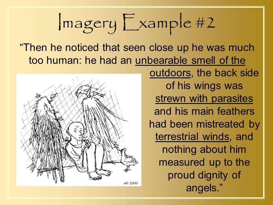 a very old man with enormous wings imagery