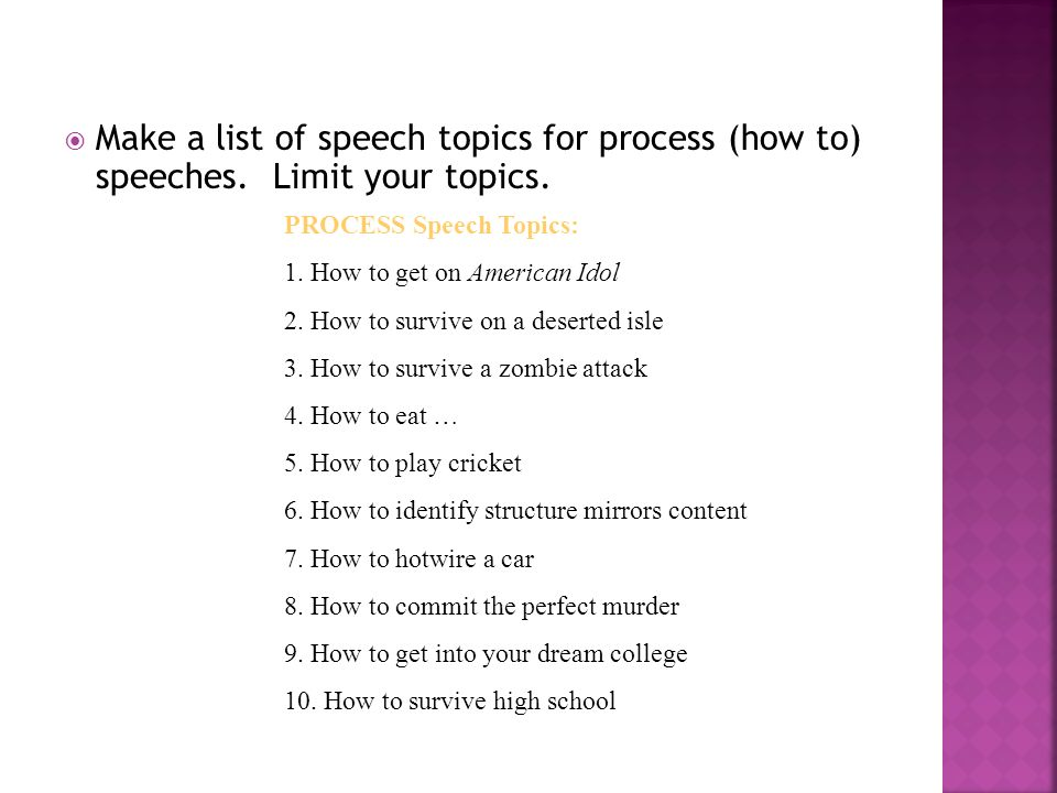 topics to give a speech about