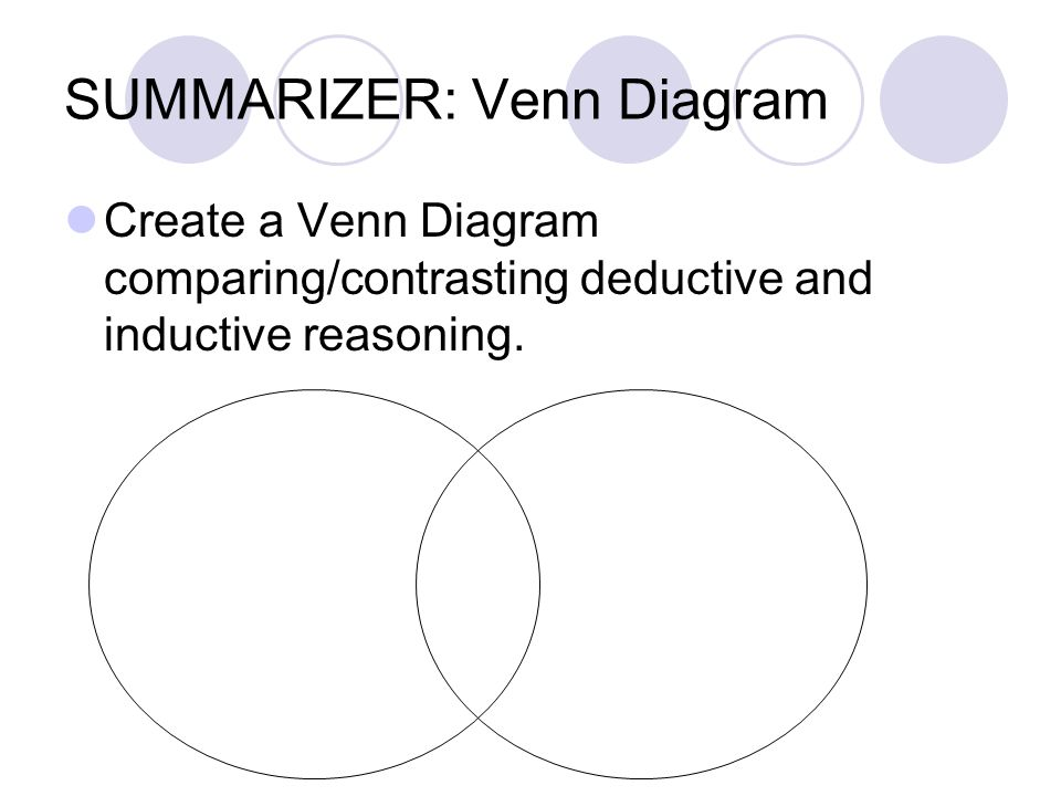 Deductive and inductive reasoning ppt download summarizer venn diagram ccuart Images