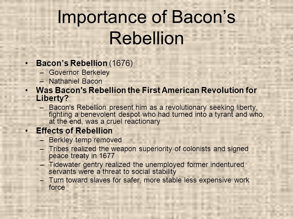 bacons rebellion significance