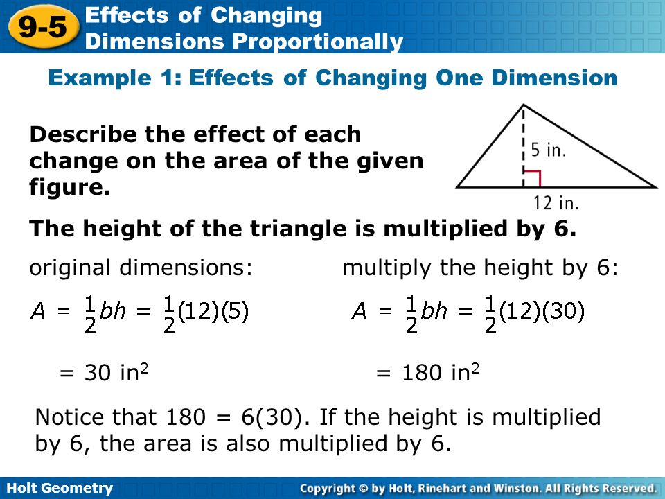 9-5 problem solving effects of changing dimensions proportionally