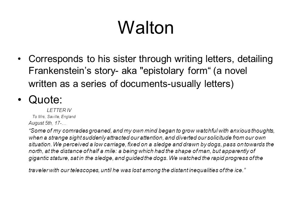 frankenstein letters summary beautiful frankenstein letter 4 summary how to format a 37979