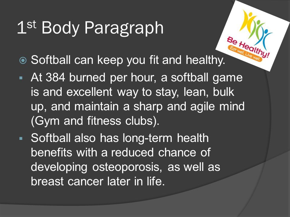 paragraph about how you can stay healthy